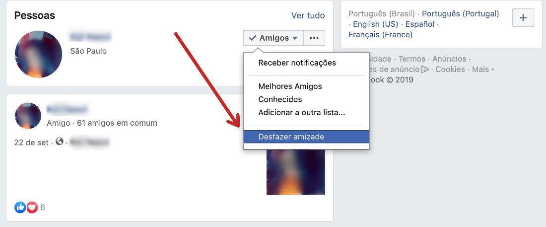 1 Passo: Como desfazer amizade no Facebook
