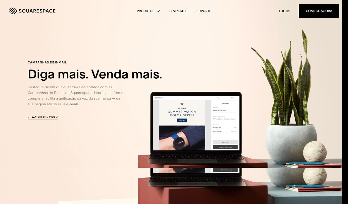 Marketing de email squarespace
