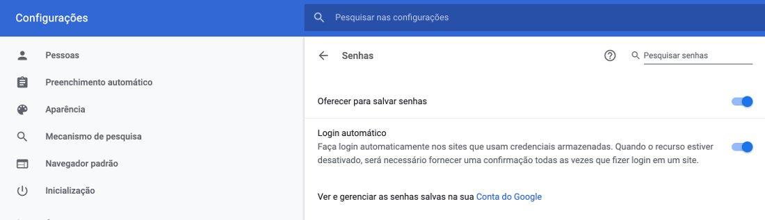 entrar sem senha redes sociais e Facebook pelo Google Chrome