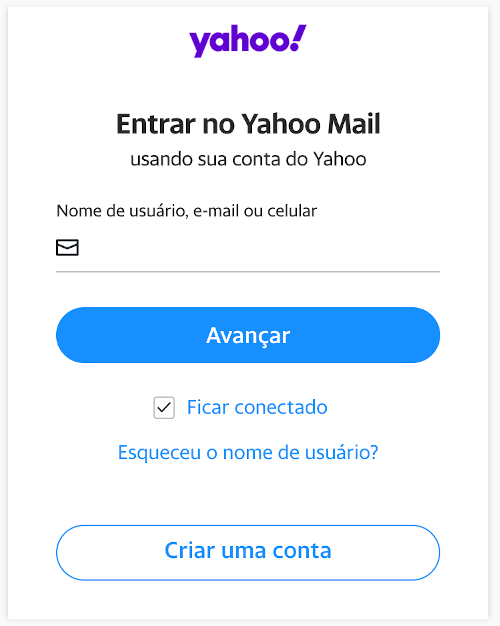 Entrar no Yahoo Mail