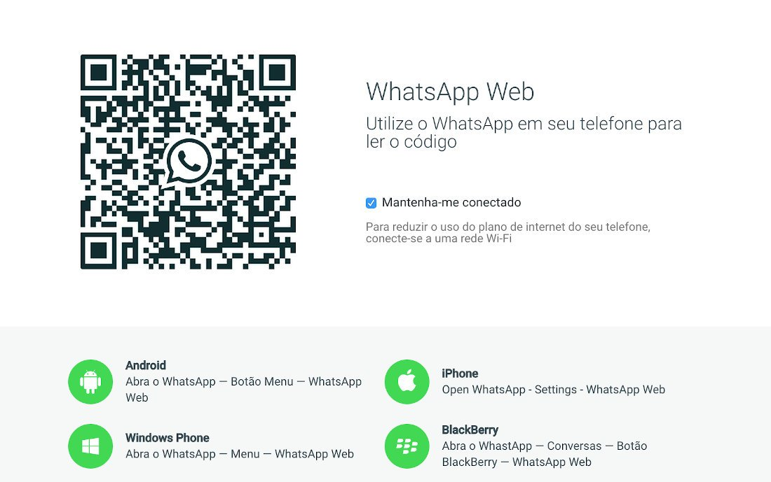 Como usar o WhatsApp Web escanear